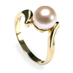 Freshwater pearl (and gemstone) rings
